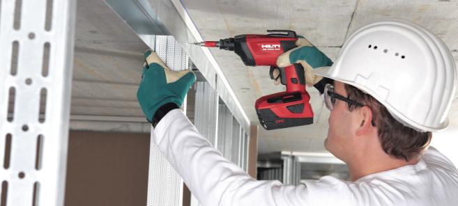 La atornilladora eléctrica ligera para los trabajos más exigentes. Diseñada específicamente para realizar trabajos de acabados interiores y exteriores tales como instalación de muros y plafones falsos, entre otros.